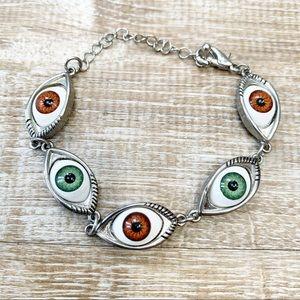 Eyeball Evil Eye Bracelet Perfect for Halloween.